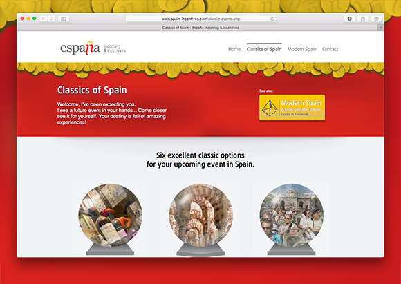 Classics of Spain landing page